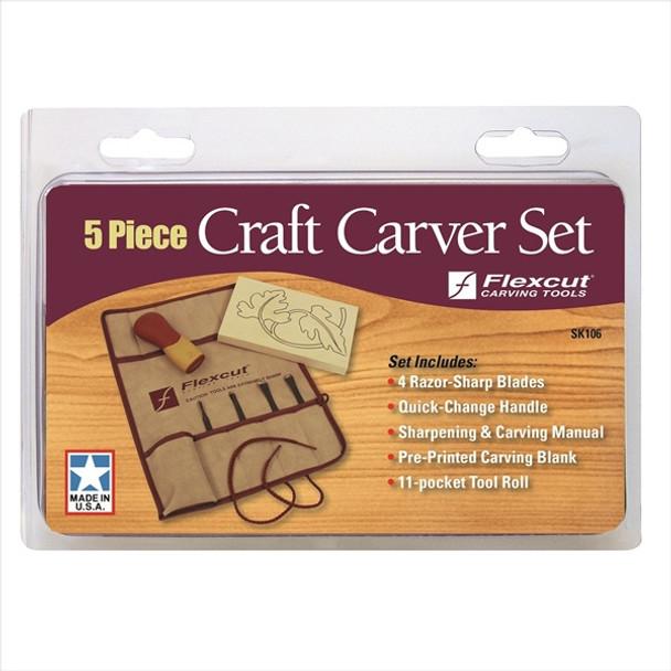 Flexcut SK106 5pc Craft Carver Set