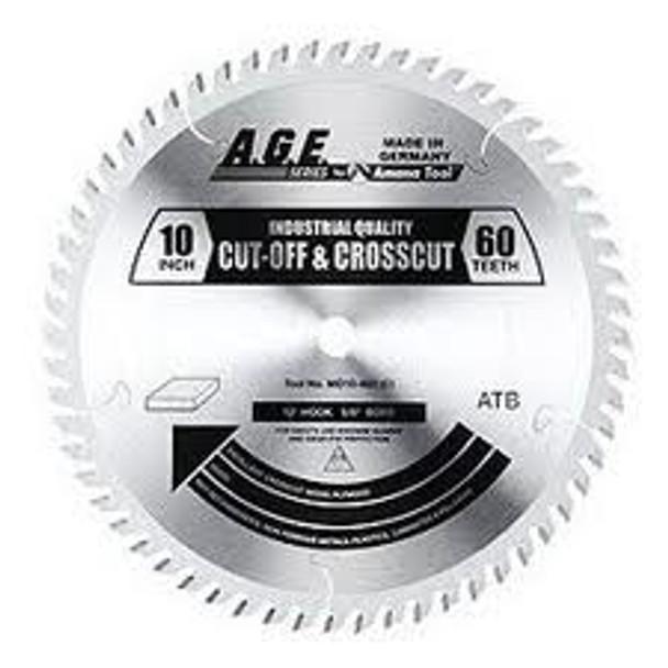 "Amana MD10-600C 10"" x 60t ATB Crosscut Blade 5/8 Bore"