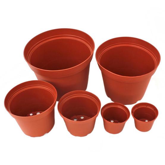Plastic Terracotta Pot Multiple Sizes W Drainage Hole