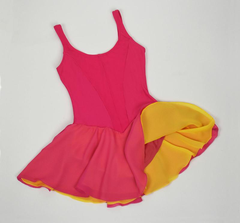 2nd Lyr Georgette Skirt Contrast Color
