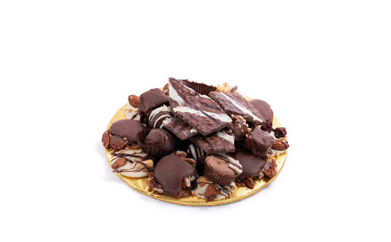 "Milk Chocolate Platter-8"" Round"