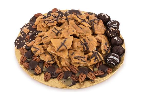 """Nut Brittle Platter Medium 12"""""""