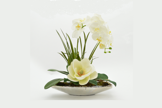 Floral Centerpiece White Magnolia