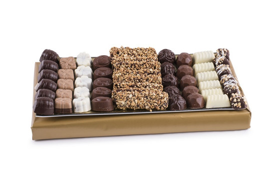 Assorted  Truffles On Glass Tray -Medium