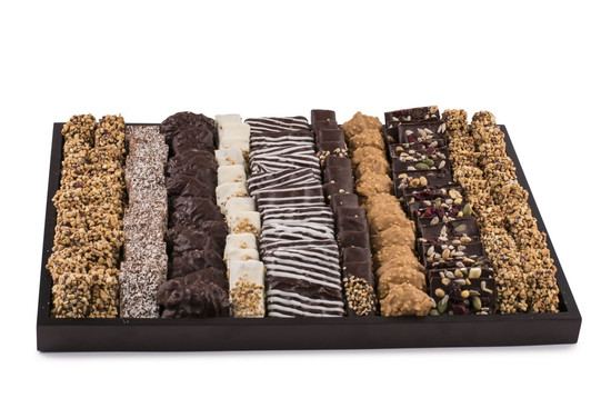 Assorted Fine Chocolates on Wooden Tray-Large