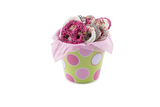 Chocolate Covered Pretzels Pink- 12 Piece