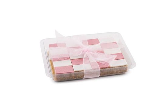 Peanut Chew Platter Pink-20 piece