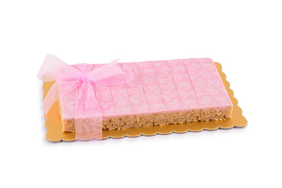 Peanut Chew Platter Pink Medium-40 Piece