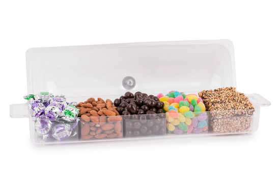Acrylic Long Tray With Cover-Filled