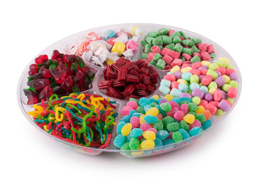 Just Candy Platter 7 Section -14""