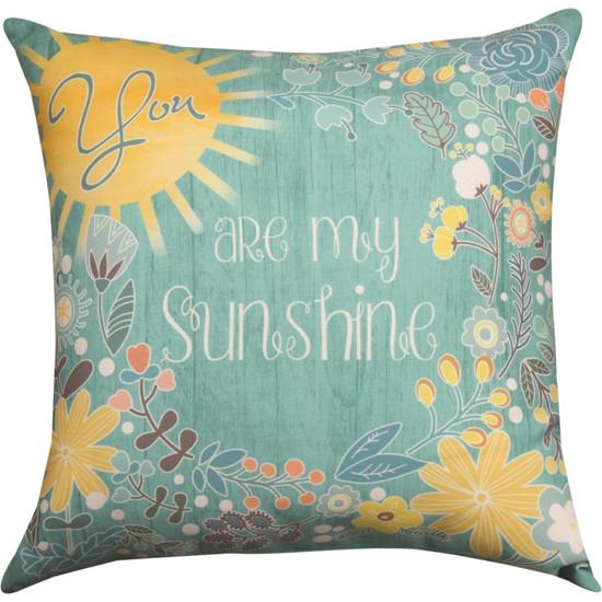 Pillow You Are My Sunshine-Aqua