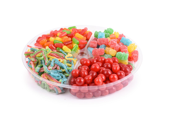 Just Candy Platter 4 section-10""