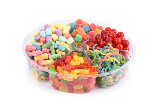 Just Candy Platter  6 Section -10""