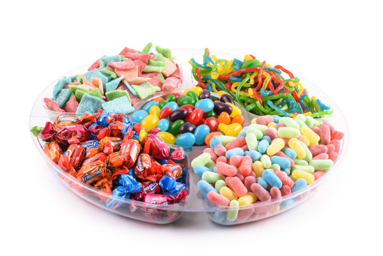 Just Candy Platter 5 Section -12""