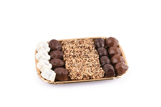 Assorted Chocolates on Gold Tray-Small