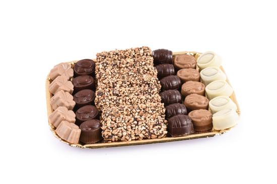 Assorted Chocolates on Gold Tray-Medium