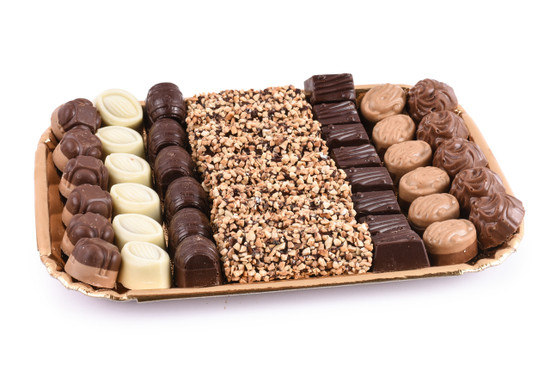 Assorted Chocolates on Gold Tray-Large