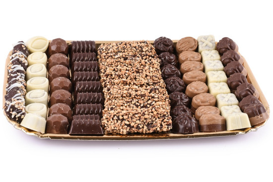 Assorted Chocolates On Gold Tray-Extra Large