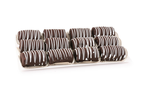 Chocolate Covered Yodel Platter-White-12 Piece