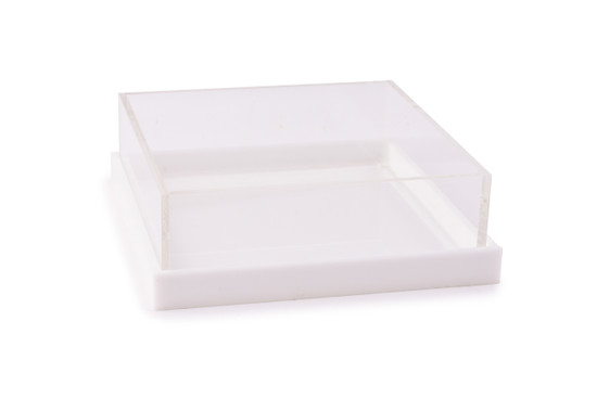 Acrylic Server with Base/Cover-8""