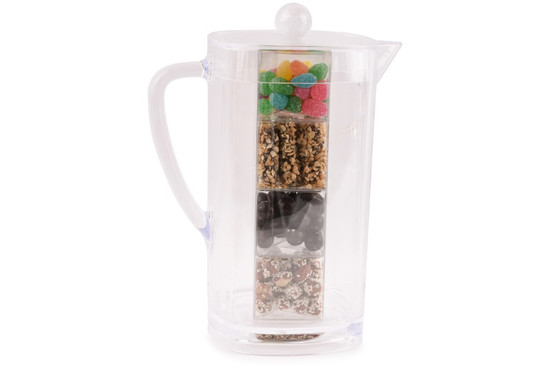 Acrylic Pitcher With Chocolates, Nuts and Candy