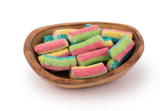 Sour Rainbow Filled Logs