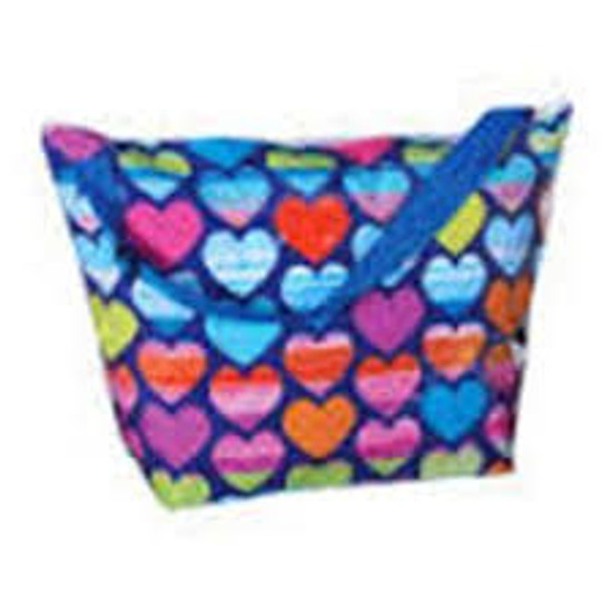 Rainbow Hearts Weekender Bag