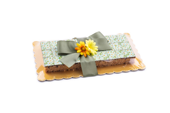 Peanut Chew Platter With Floral Pattern-30 Piece