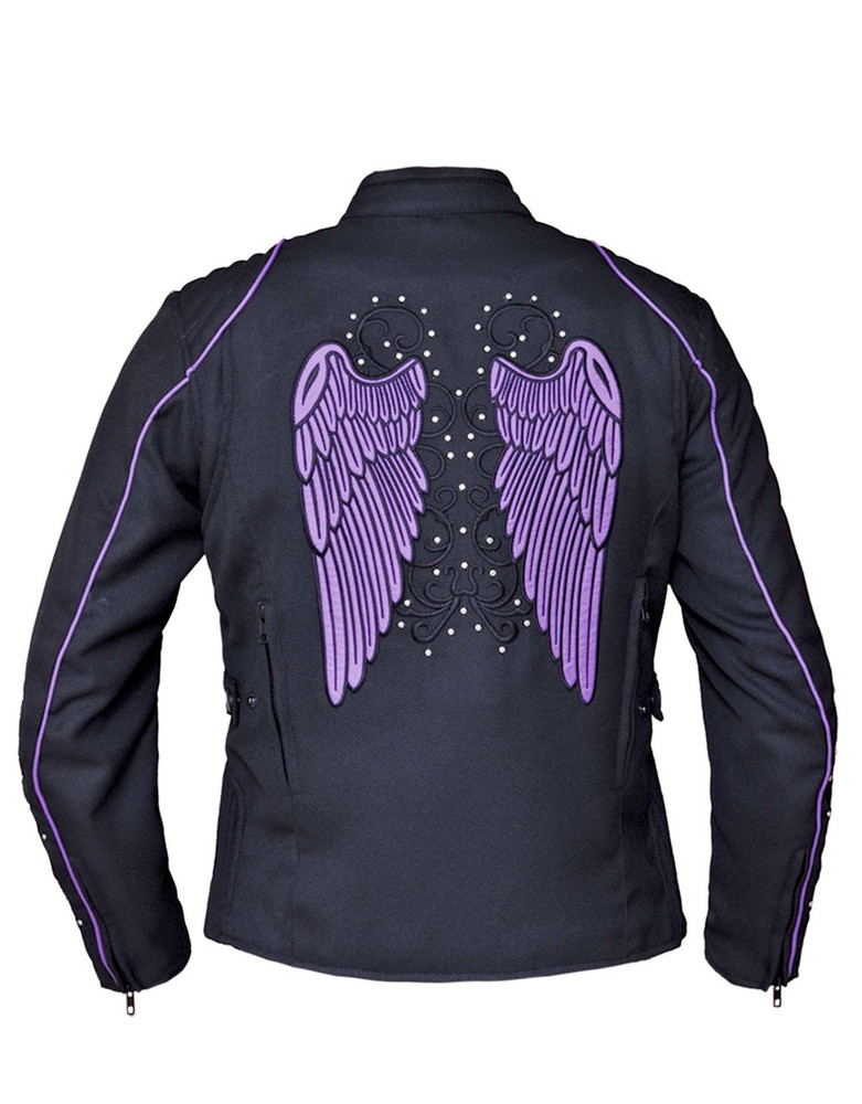 Angel Wings Design textile jacket