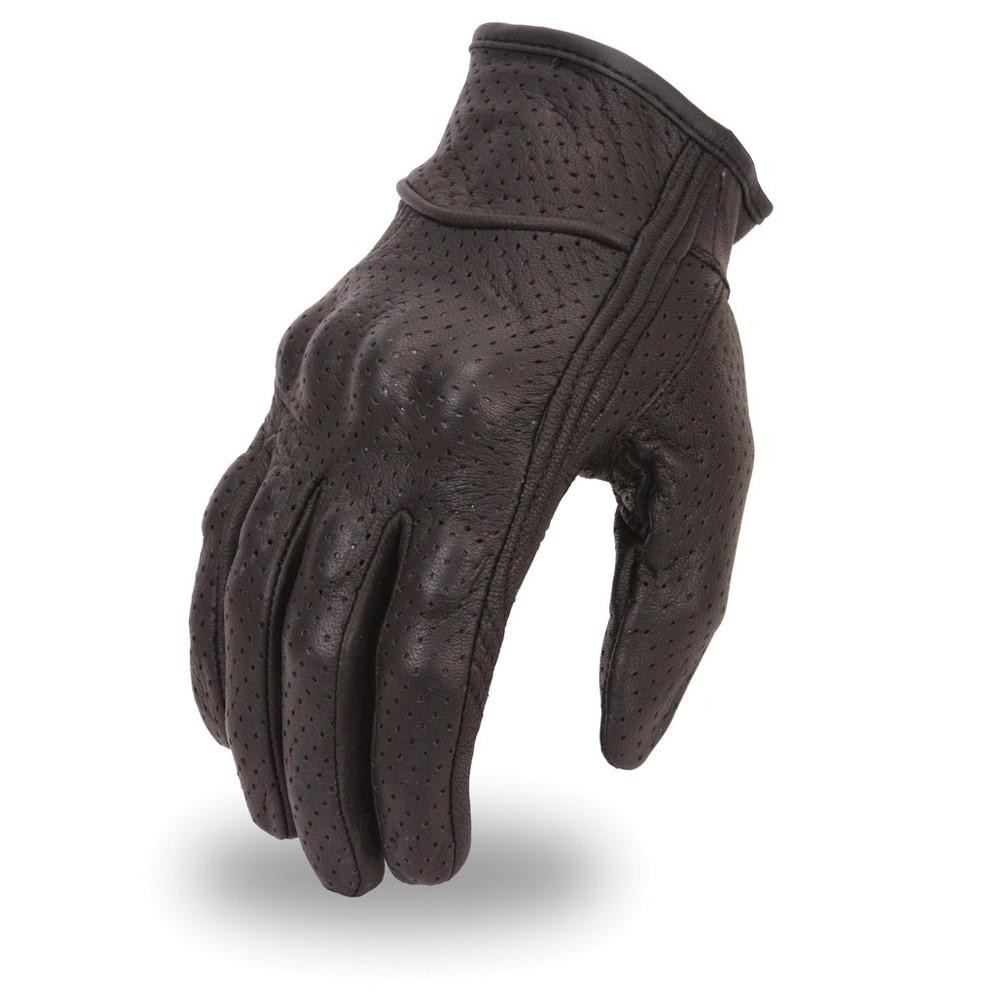 Lightweight fully perforated glove with rubberized knuckle protection