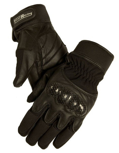 Men's Gel Padded Popular Textile and Leather Racing Gloves