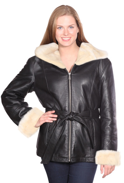 Diana Leather Parka