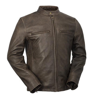Men  Maine casual leather jacket