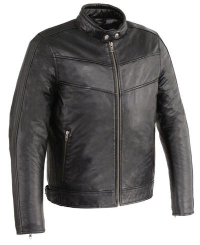 Men fitted leather with side buckle