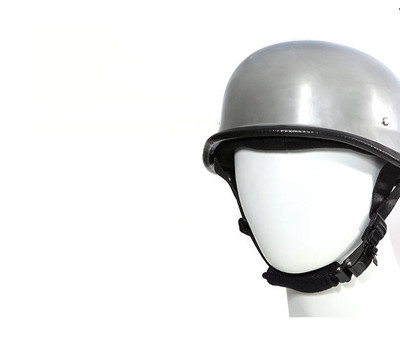 Chrome German Novelty Motorcycle Helmet