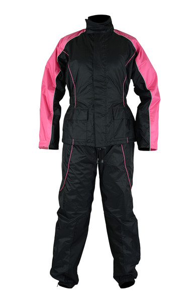 Women's  Motorcycle Rain Gear Suit hot pink