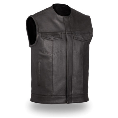 Club style collarless vest No Rival