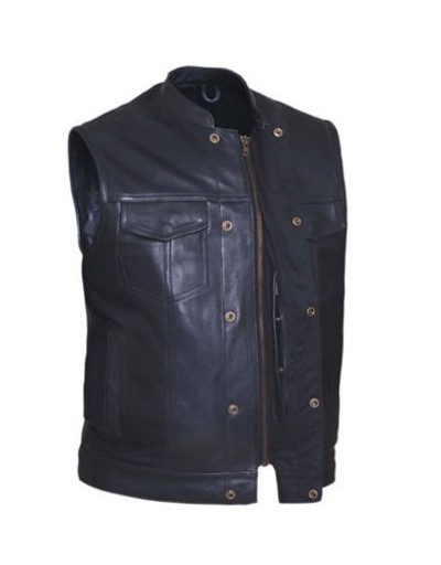 best sellers  Men's top grain cowhide Club Vest