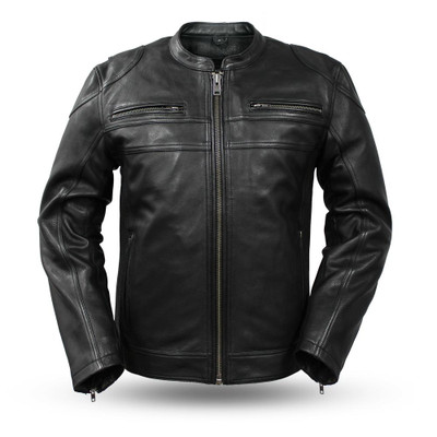 Men MC Nemesis Diamond cowhide Leather