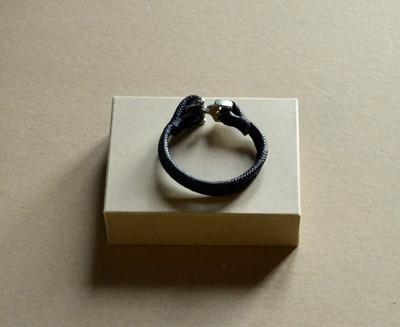 Metal Anchor- Fashion Bracelet  Black