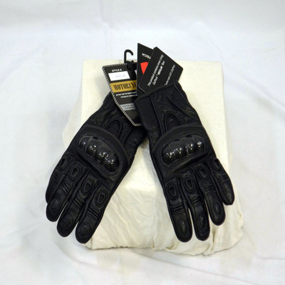 men leather gloves kevlar sewn and inner liner with hard knuckle