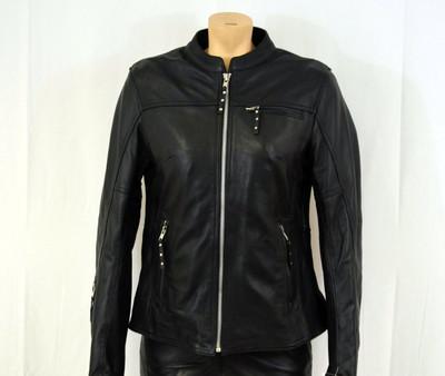 Ladies  detailed soft  biker leather Jacket