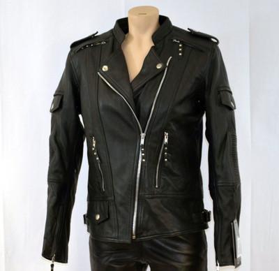Ladies updated  soft biker leather jacket