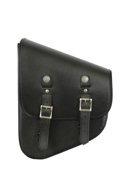 Left Side Premium Leather Swing Arm Bag W/ Buffalo Snaps