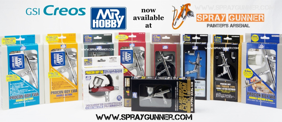 ​BIG NEWS!!! Mr. Hobby Airbrushes are here!!!