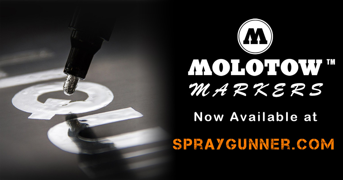 MOLOTOW refillable markers by Chartpak now ​available at SprayGunner!