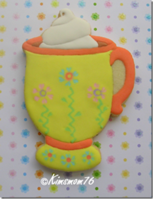 COFFEE MUG WITH PEDESTAL AND WHIPPED CREAM