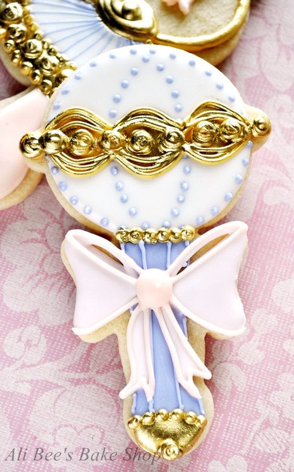Baby Rattle cookie by Ali Bee's Bake shop