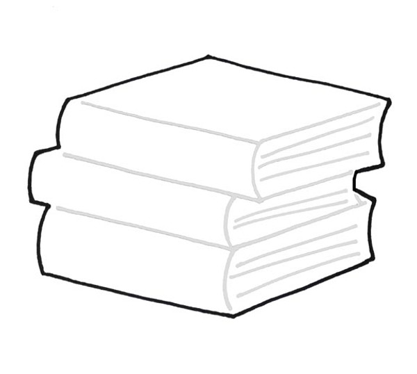 OFFSET STACK OF BOOKS