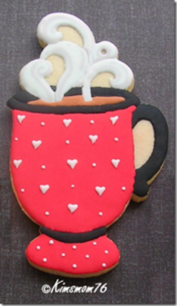 COFFEE MUG  WITH PEDESTAL AND STEAM
